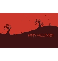 Happy halloween red backgrounds vector