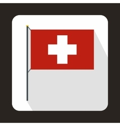 Switzerland flag icon in flat style vector