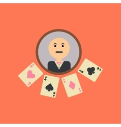 Flat icon on stylish background poker dealer vector