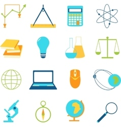 Set of icons education and e-learning vector