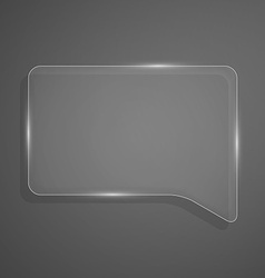 Abstract shiny glass banner Transparent chat box vector image vector image