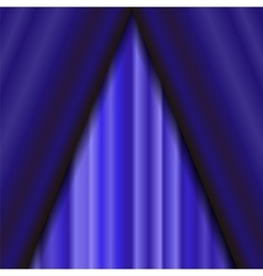 Blue textile pattern cinema stage vector