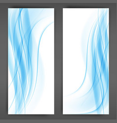 blue transparent wave abstract background waves vector image vector image