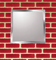 brickwall frame vector image