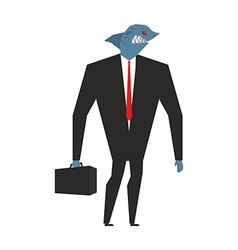 Business shark businessman with head sea predator vector