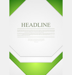 Corporate material tech flyer design vector