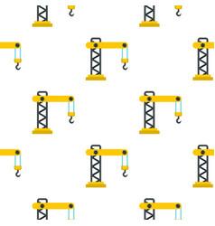 Crane pattern flat vector