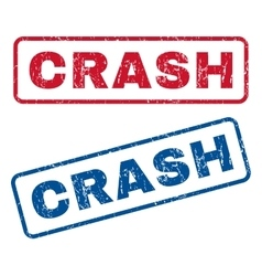 Crash rubber stamps vector