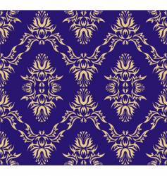 damask Victorian pattern vector image