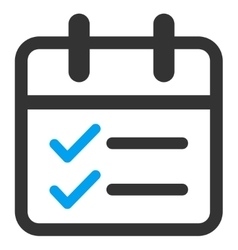Date tasks icon vector
