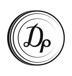 Drachma icon simple style vector image vector image