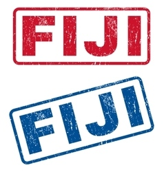 Fiji rubber stamps vector