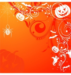 floral Halloween background vector image vector image