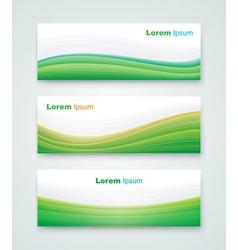 Green landscape banner vector