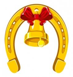Horseshoe and bells vector