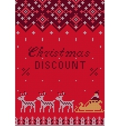 Knitted Sweater Sale vector image vector image