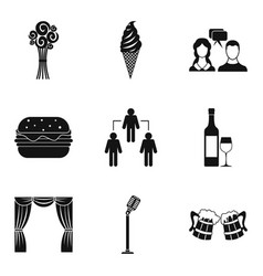 Occasion icons set simple style vector