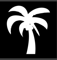 Palm the white color icon vector