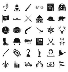 Peso icons set simple style vector
