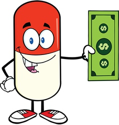 Pill cartoon vector