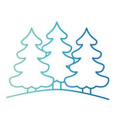 pine trees landscape on gradient color silhouette vector image