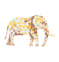 Polygonal elephant pattern vector
