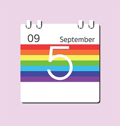 Rainbow calendar icon vector