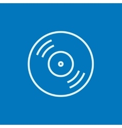 Reel tape deck player recorder line icon vector image vector image