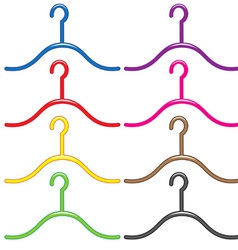 set of colourful hangers vector image vector image