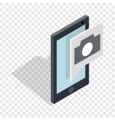 smartphone camera application isometric icon vector image