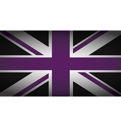 uk purple and black vector image