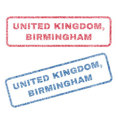 United kingdom birmingham textile stamps vector