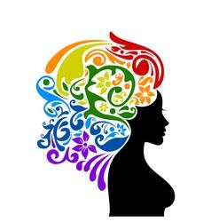 Woman a rainbow vector image vector image