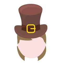 woman wearing leprechaun hat vector image