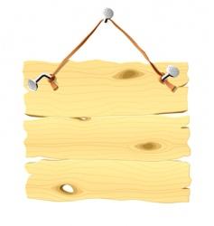 wooden signboard vector image vector image