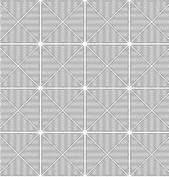 Slim gray wavy striped triangles in row vector