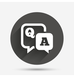 Question answer sign icon qa symbol vector