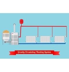 Energy-saving heating system vector