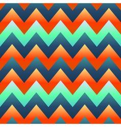 seamless retro Zig zag pattern vector image