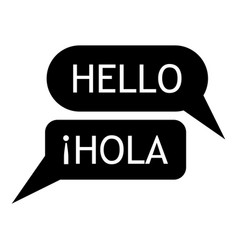 speaking spanish icon simple style vector image