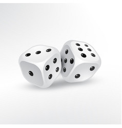 Two dice on white background vector