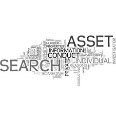 Let a private investigator conduct an asset vector