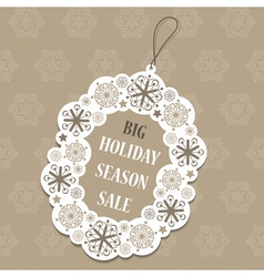 Christmas sale tag vector