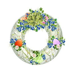 Easter decorative wreath vector