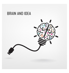 Creative brain idea sign vector