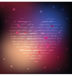 Love handwriting card vector