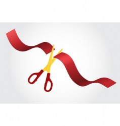scissors and ribbon vector image