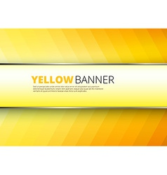 Yellow-orange background with banner place vector