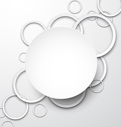 Background with paper white circles vector