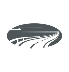 Highway road or pathway gray icon vector image